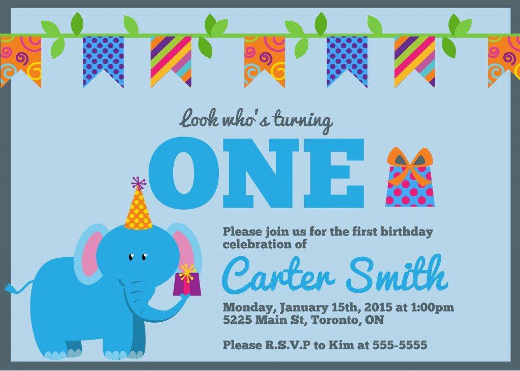 First Birthday Invitation