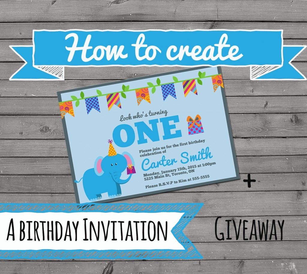 How to create your own birthday invitation