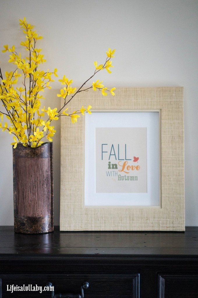 Fall in Love with Autumn Free Printable - 2