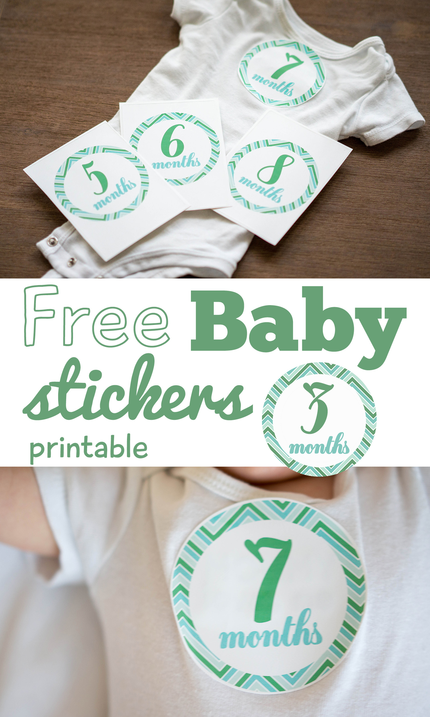 Invaluable image intended for free printable baby month stickers