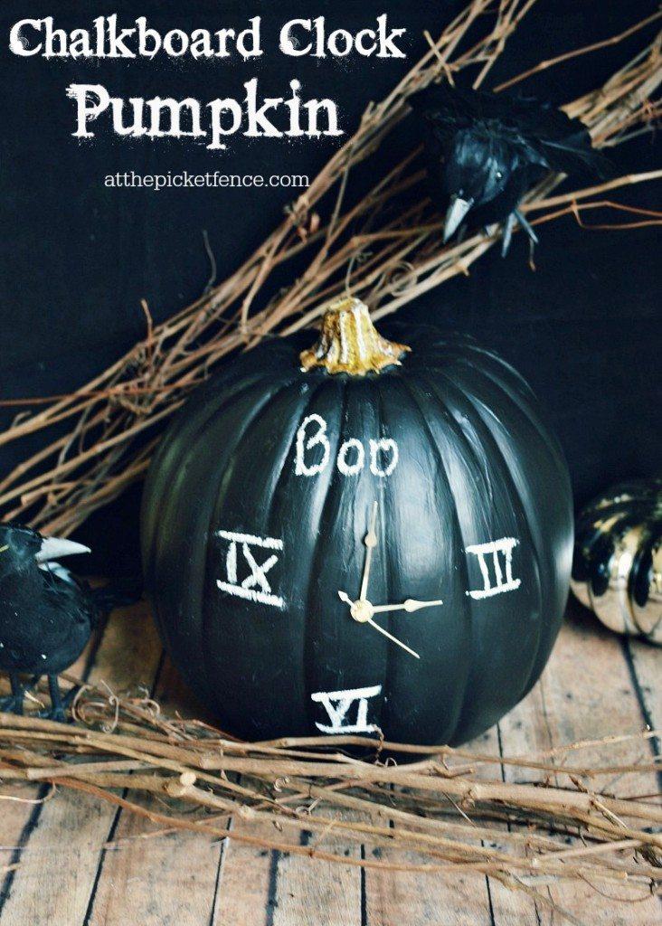 Chalkboard-clock-pumpkin