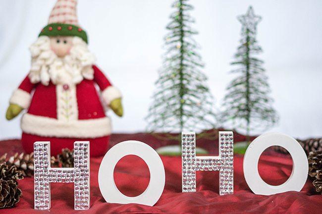 DIY Christmas Ho Ho Letters