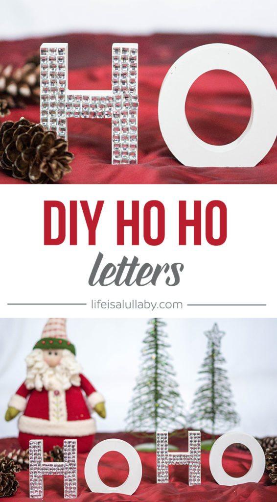 DIY HO HO Letters