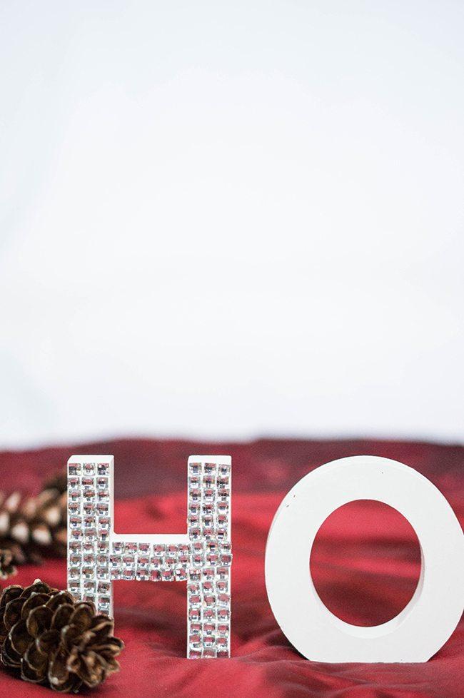DIY Ho Ho Christmas Letters