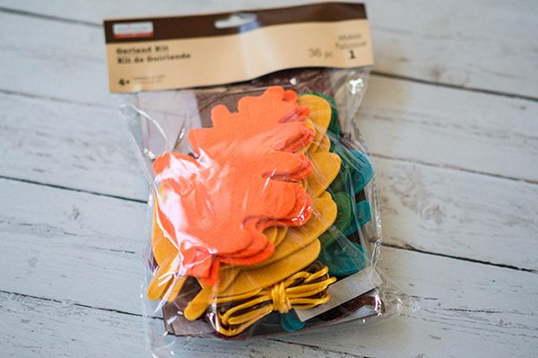 DIY Thanksgiving Banner Materials