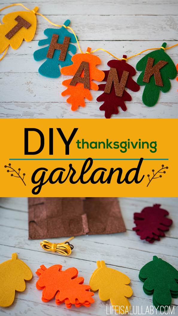 DIY Thanksgiving Garland Banner