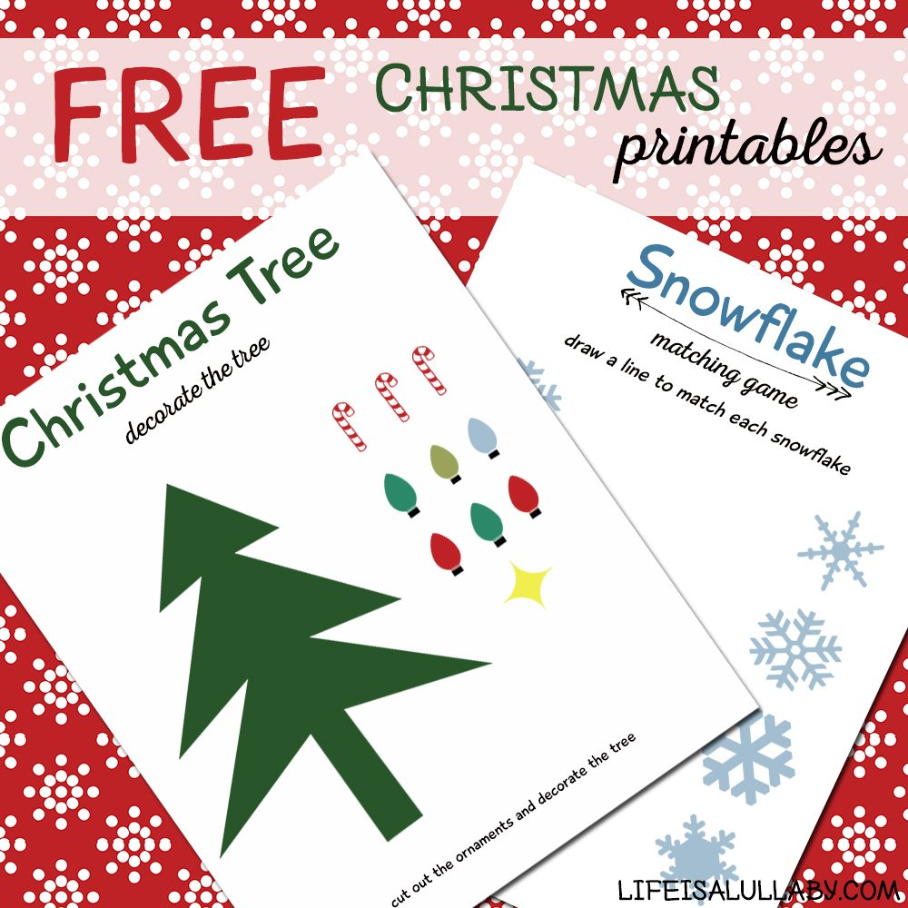Free Christmas Kids Printables - Life is a Lullaby