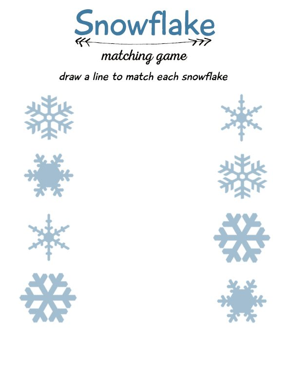 Snowflake Matching Game