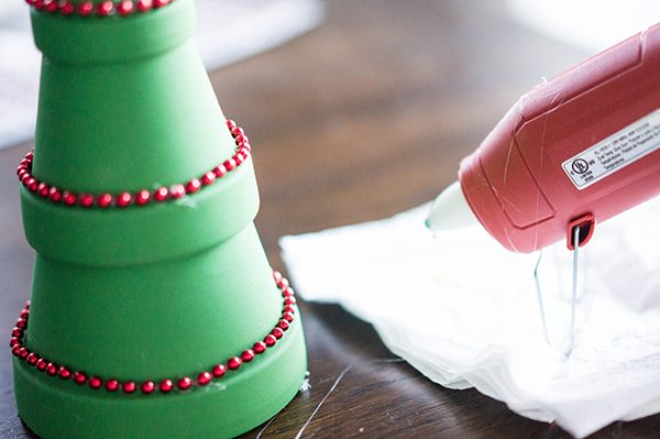 Flower Pot Christmas Tree Glue Gun