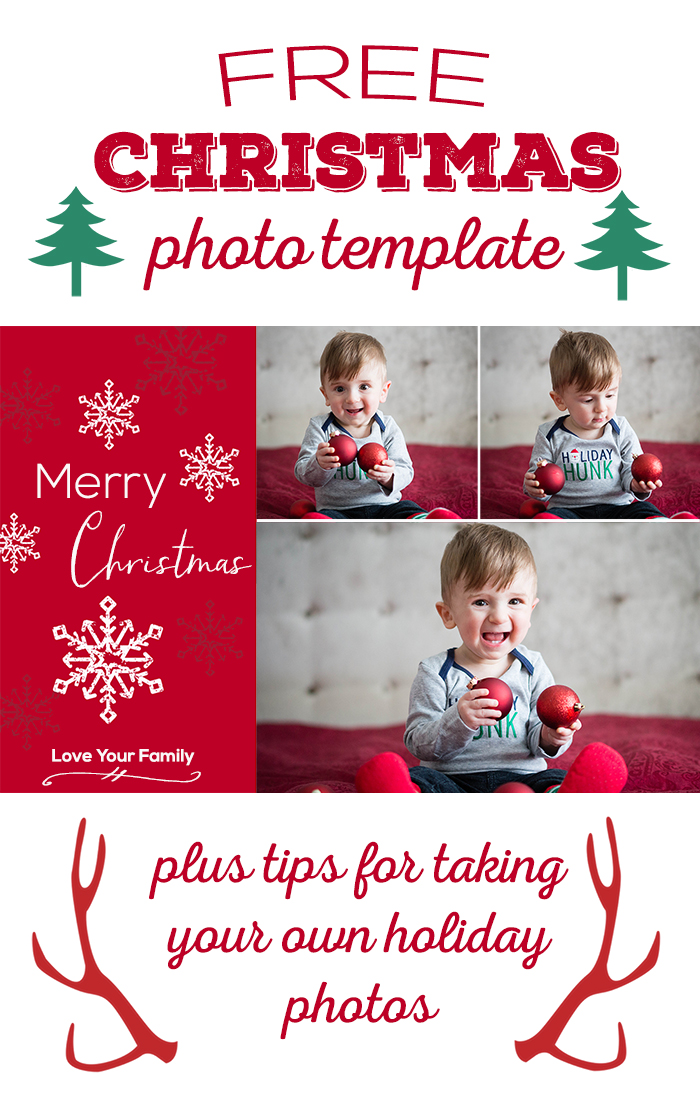 Free Christmas Photo Template
