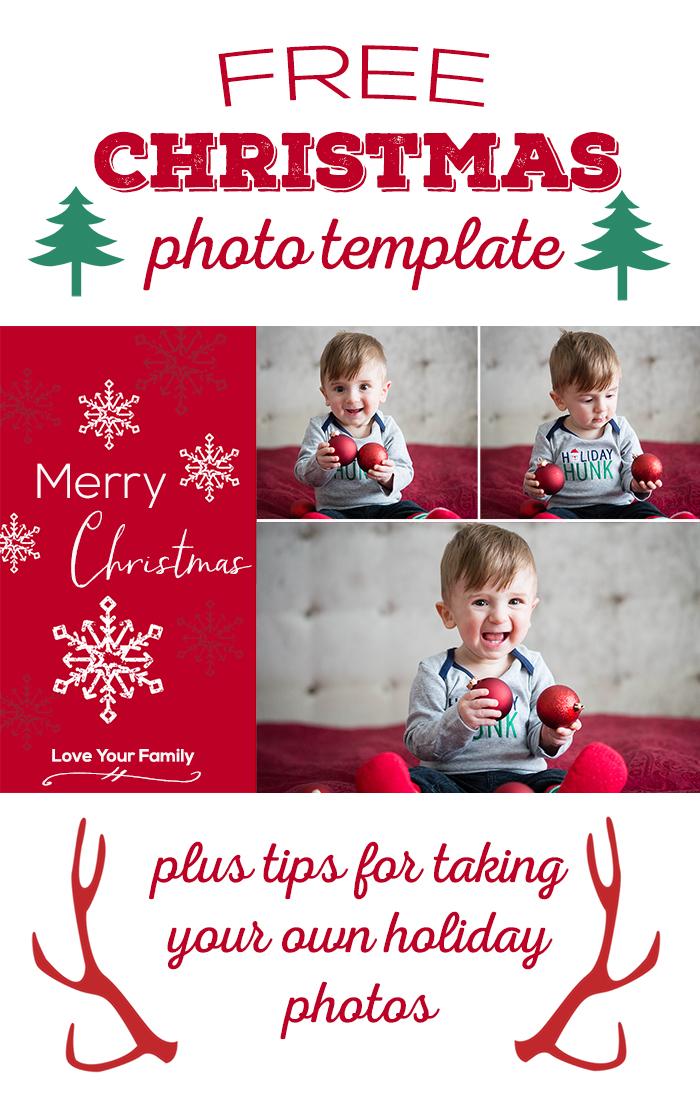 Free Christmas Photo Template