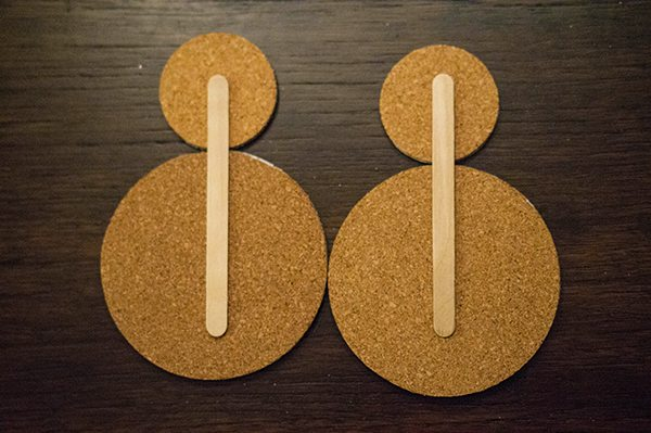 Snowman Cork Craft Sticks