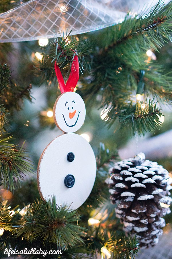 Snowman Cork Ornament Christmas Craft
