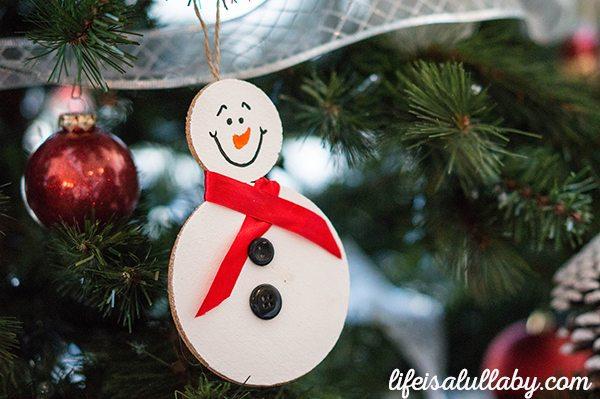 Snowman Cork Ornament Christmas Craft