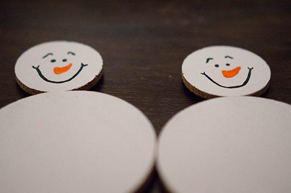 Snowman Cork Ornament Painting