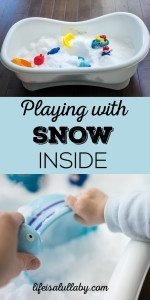 Playing with Snow Inside - Indoor Play Idea