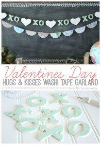 Valentine's Washi Tape X's & O's Garland