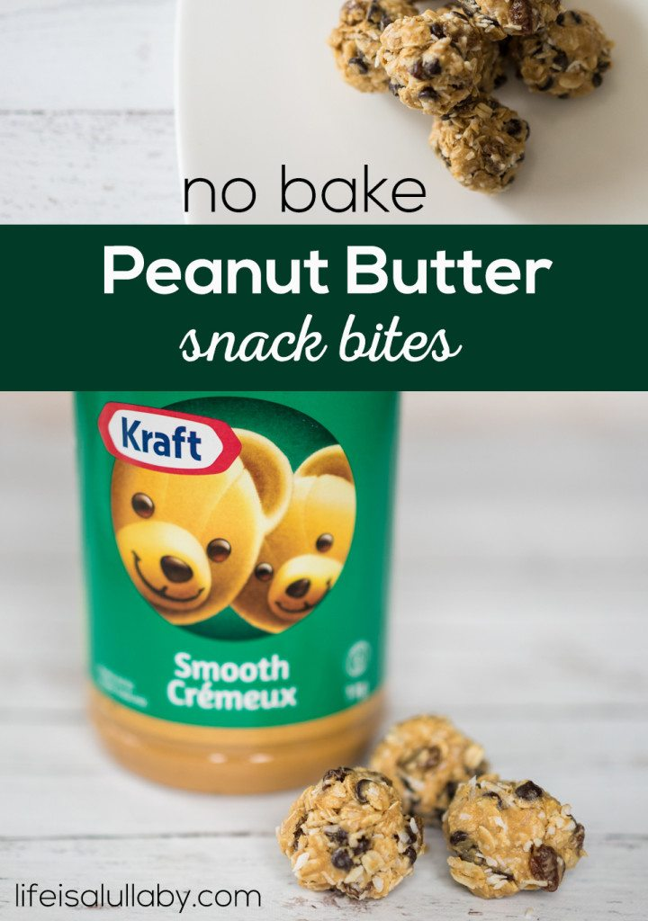 No Bake Peanut Butter Snack Bites
