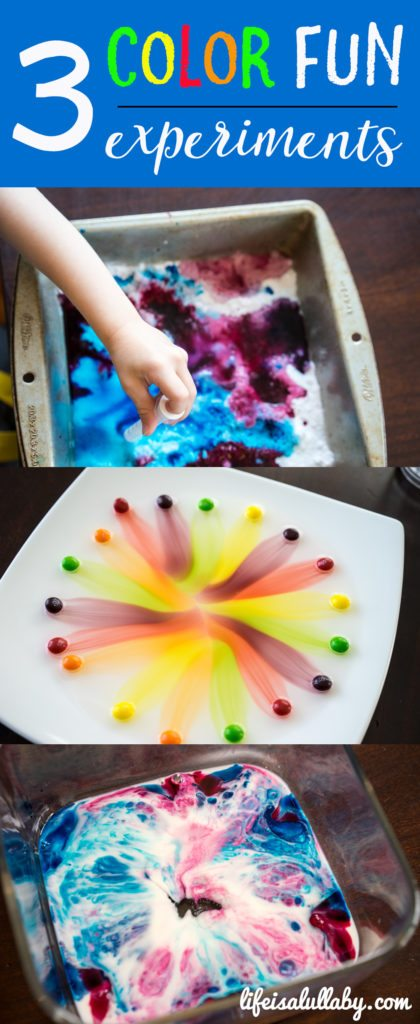 3 Color Fun Experiments for Kids