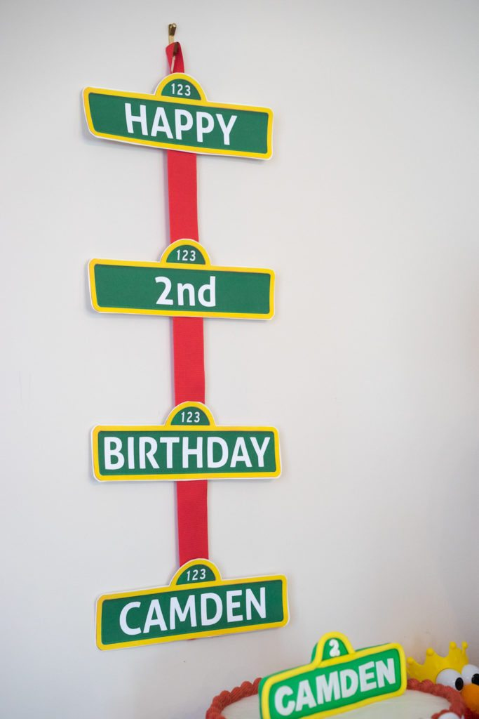 Elmo Birthday Party Sesame Street Sign