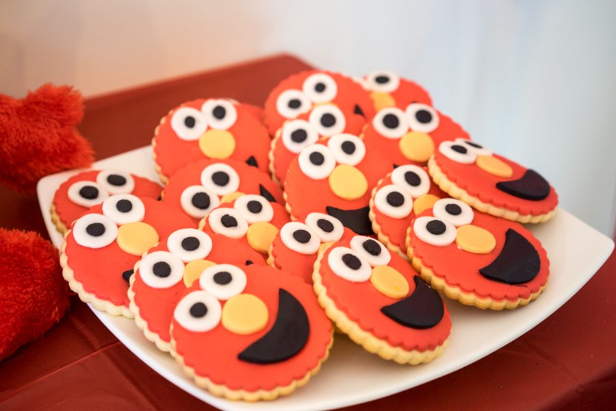 Elmo Birthday Party Table Ideas Cookies
