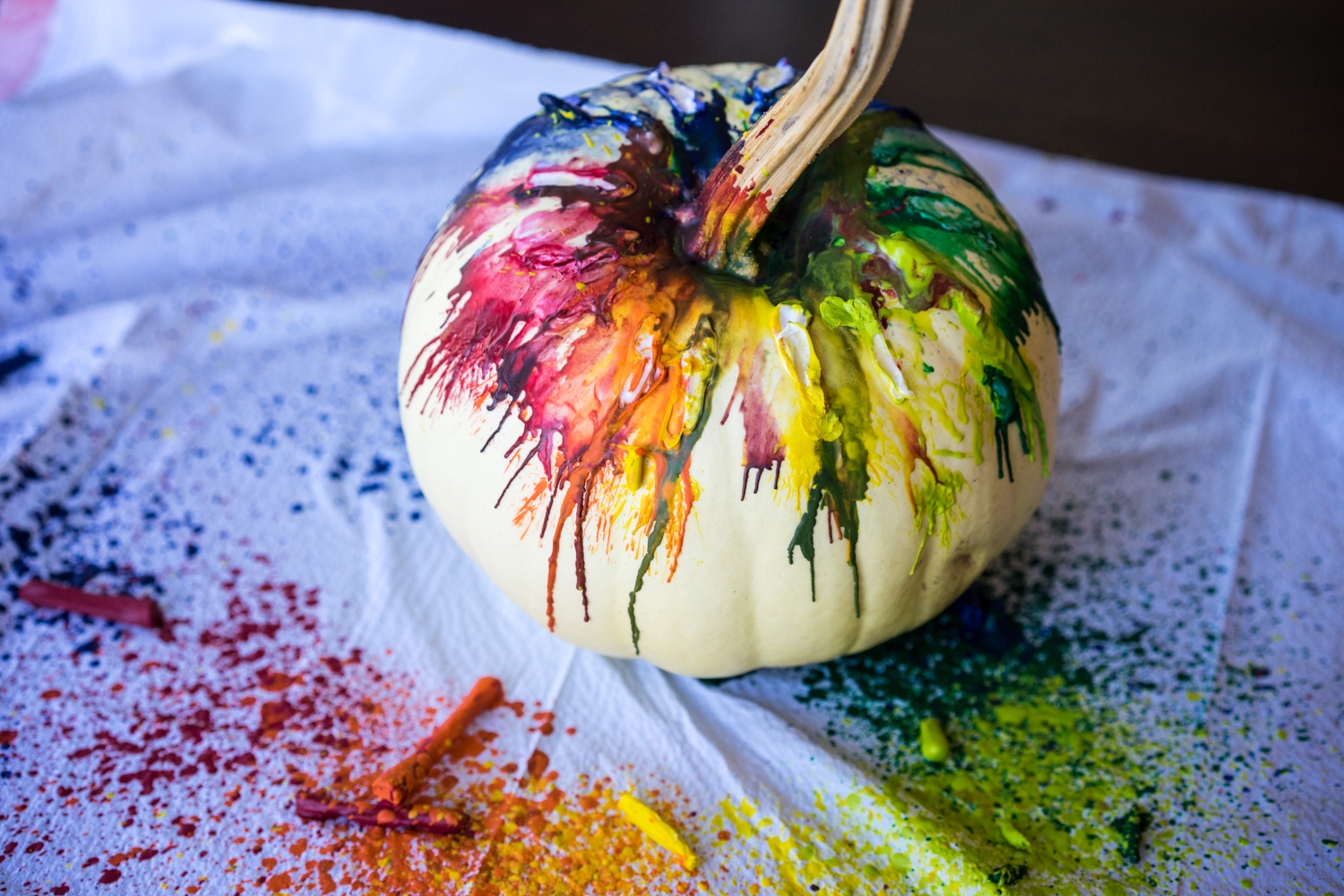 Melted Crayon Craft Pumpkin