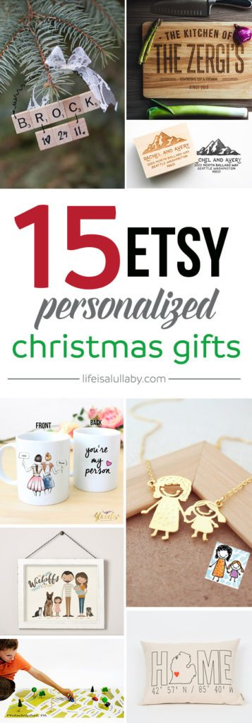 15 Etsy Personalized Christmas Gifts - the best Etsy Christmas gifts!
