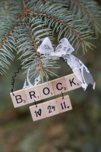 Baby First Christmas Scrabble Ornament