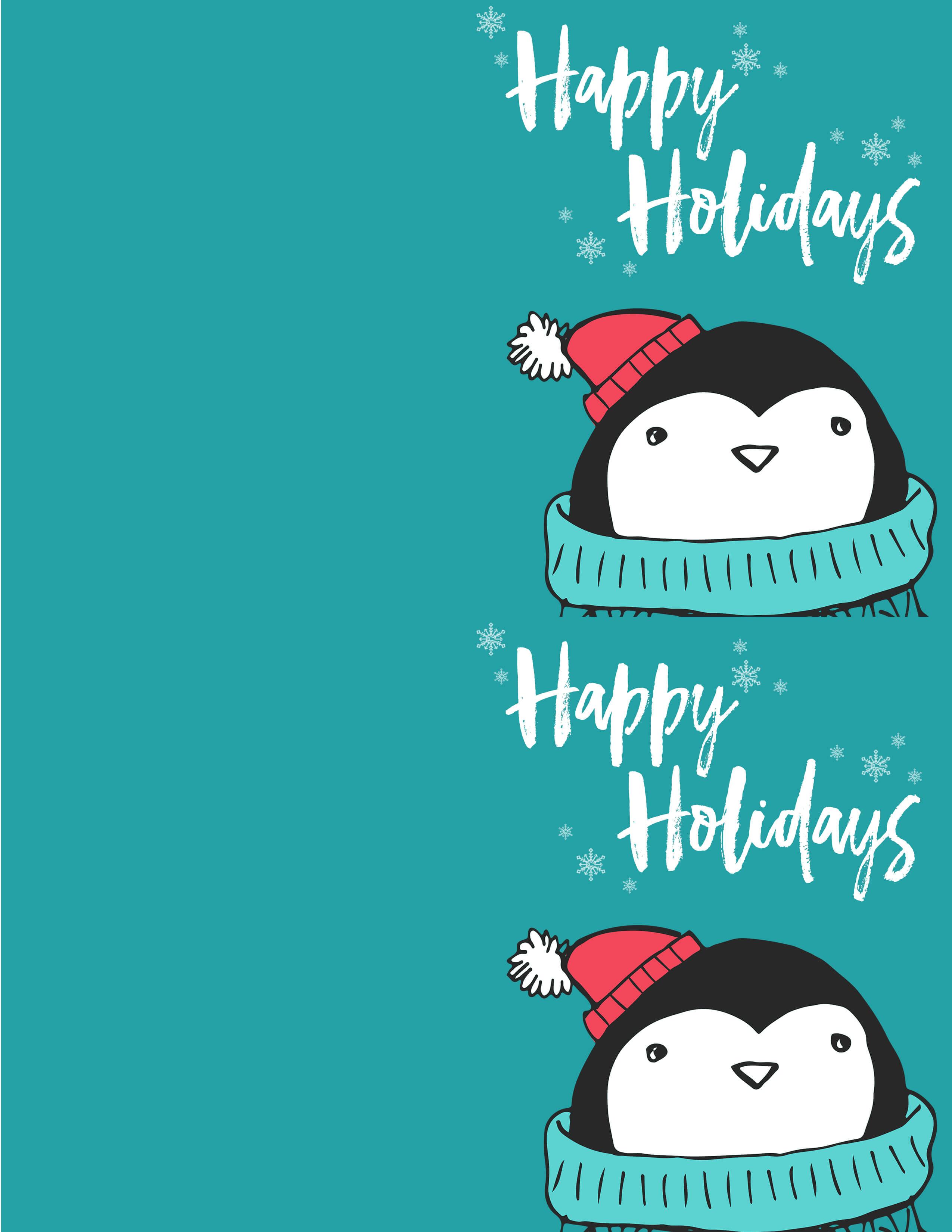 Printable Christmas Card.Free Penguin Christmas Card Printables The Best Ideas For Kids