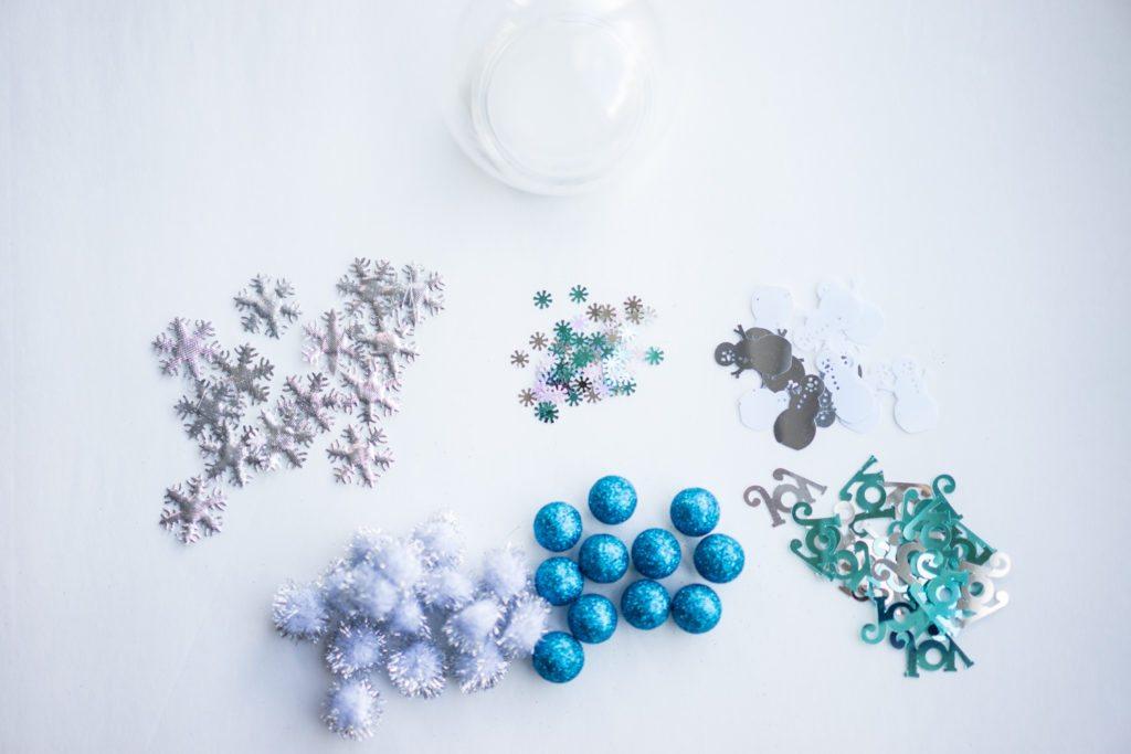 Snow Globe Sensory Bottle Supplies
