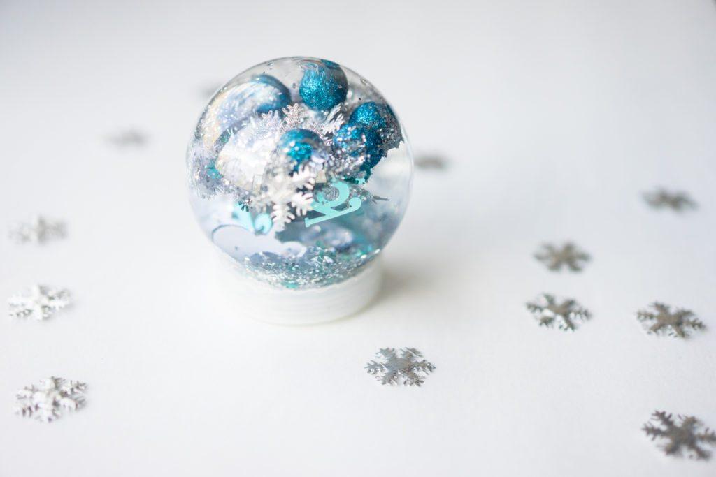 Christmas Snow Globe Sensory Bottle