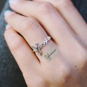Personalized Etsy Ring