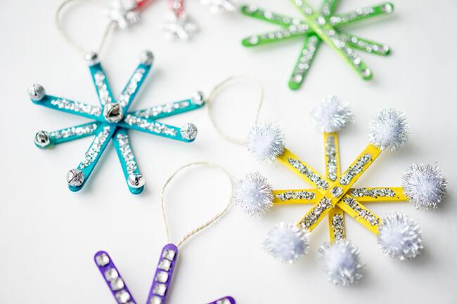 Popsicle Stick Snowflake Ornament