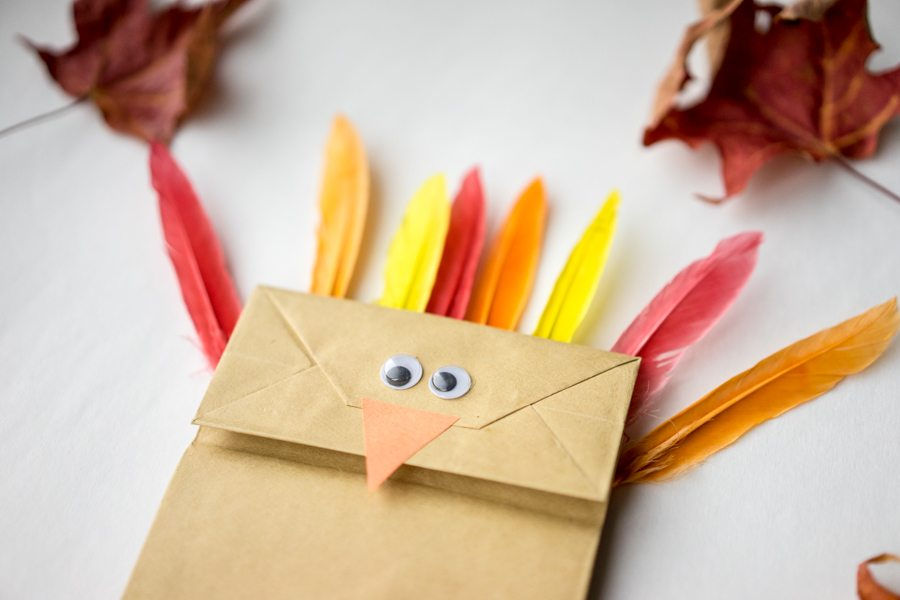 Turkey paper bag craft