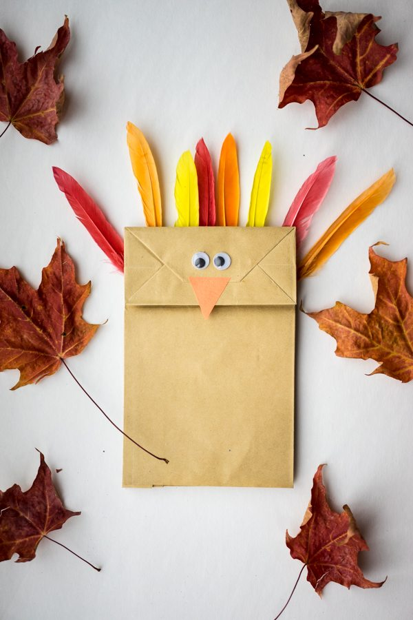 Paper Bag Thanksgiving Turkey Craft