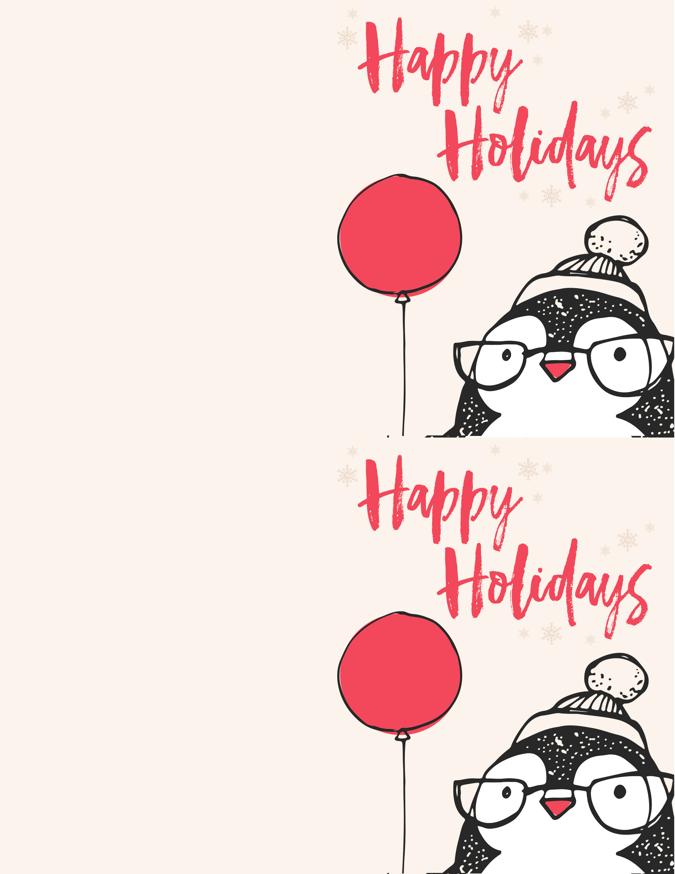 Printable Christmas Cards.Free Penguin Christmas Card Printables The Best Ideas For Kids