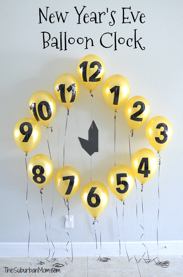 New Years Eve Balloon Clock