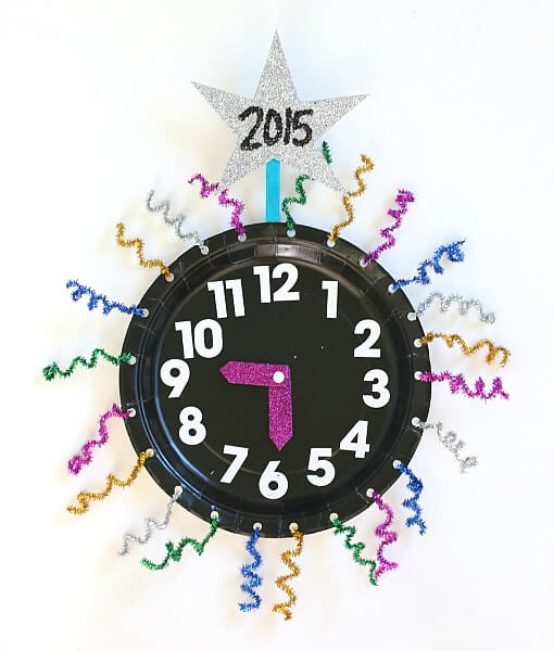 New Years Eve Countdown Clock Craft