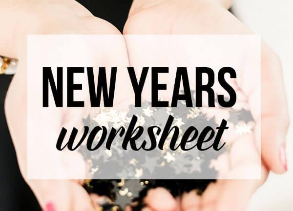 New Years Worksheet