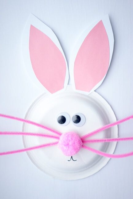 Easter Craft for Toddlers - Paper Plate Easter Bunny