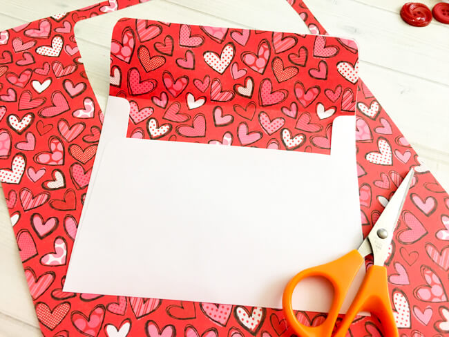 Heart Button Art Make Your Envelope