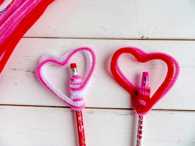 Step 3 - Heart Pencil Toppers