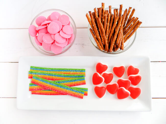 Supplies for Cupid Arrow Candy
