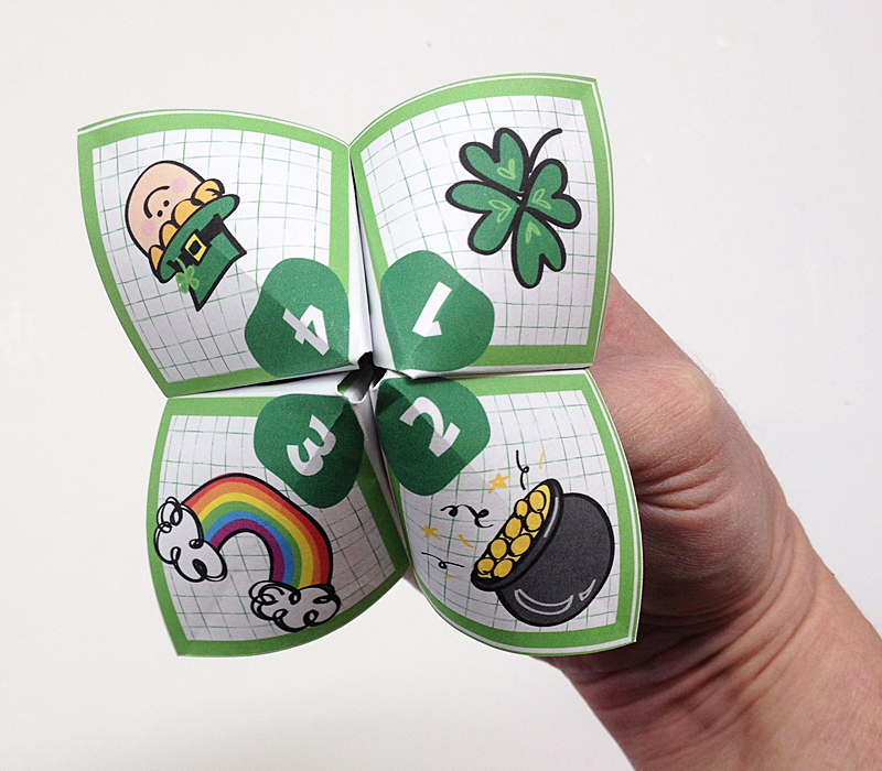 St Patrick's Day Cootie Catcher
