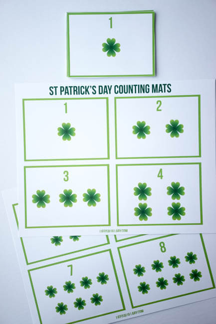 Free St Patrick's Day Printable Counting Cards