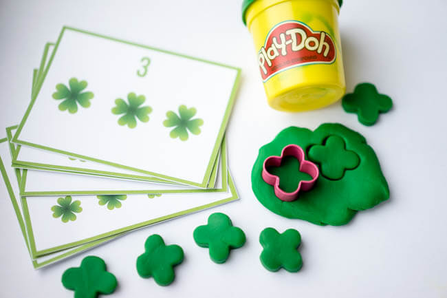 Playdough Counting Mats