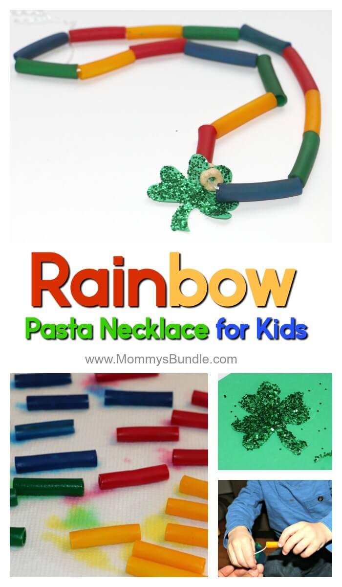 Rainbow Pasta Necklace