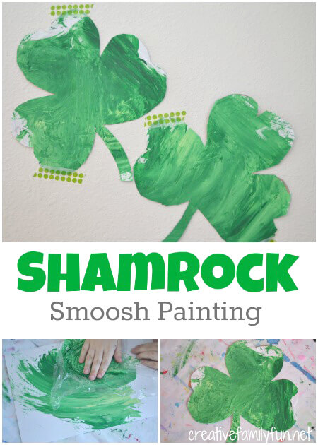Shamrock Smoosh Painting