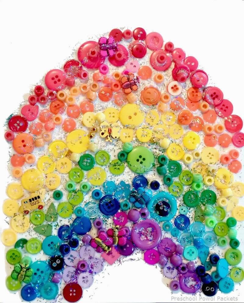Sparkly Button Rainbow
