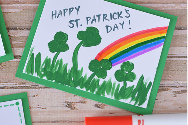 St Patrick's Day Card Kids Can Make